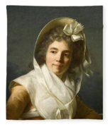 Portrait Of A Lady Fleece Blanket