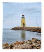Portrait Of A Lighthouse Fleece Blanket