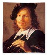 Portrait Of A Man 1640 Fleece Blanket
