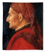Portrait Of A Man Fleece Blanket