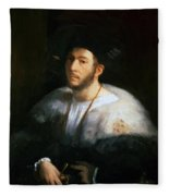 Portrait Of A Man Probably Cesare Borgia 1520 Fleece Blanket