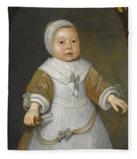 Portrait Of A One-year-old Girl Of The Van Der Burch Family Three-quarter Length Fleece Blanket