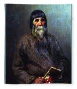 Portrait Of A Peasant 1889 Ilya Repin Fleece Blanket