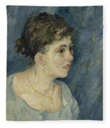 Portrait Of A Prostitute Antwerp December 1885 Vincent Van Gogh 1853  1890 Fleece Blanket