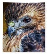 Portrait Of A Red-tailed Hawk Fleece Blanket