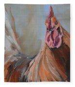Portrait Of A Rooster Fleece Blanket
