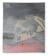 Portrait Of A Theatre Actress Fleece Blanket