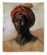 Portrait Of A Turk In A Turban Fleece Blanket