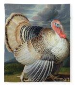 Portrait Of A Turkey  Fleece Blanket
