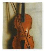 Portrait Of A Violin Fleece Blanket