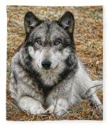 Portrait Of A Wolf Fleece Blanket
