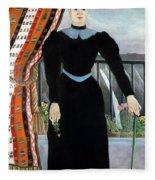 Portrait Of A Woman Fleece Blanket