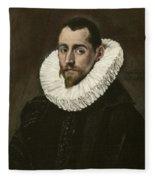Portrait Of A Young Gentleman Fleece Blanket