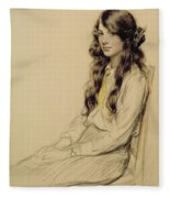 Portrait Of A Young Girl Fleece Blanket