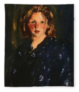 Portrait Of A Young Girl Fleece Blanket