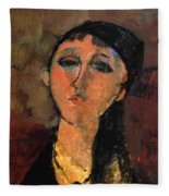 Portrait Of A Young Girl Louise 1915 Fleece Blanket
