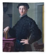 Portrait Of A Young Man Fleece Blanket