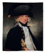 Portrait Of A Young Midshipman Sir Henry William Beechey Fleece Blanket