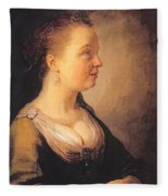 Portrait Of A Young Woman 1640 Fleece Blanket