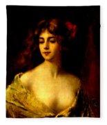 Portrait Of A Young Woman Fleece Blanket