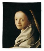 Portrait Of A Young Woman Fleece Blanket