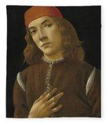 Portrait Of A Youth Fleece Blanket