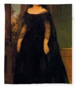 Portrait Of Actress Fanny Janauscher Fleece Blanket