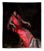 Portrait Of Actress Suzanne Santje Fleece Blanket