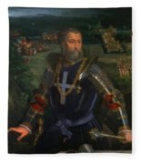 Portrait Of Alfonso I D Este 1530 Fleece Blanket