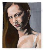 Portrait Of Amanda Fleece Blanket