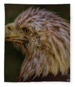 Portrait Of An Eagle Fleece Blanket