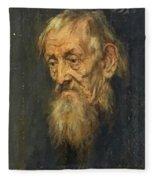 Portrait Of An Old Man 1913 Fleece Blanket