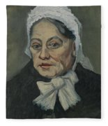 Portrait Of An Old Woman Antwerp December 1885 Vincent Van Gogh 1853  1890 Fleece Blanket