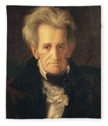 Portrait Of Andrew Jackson Fleece Blanket