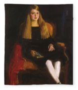 Portrait Of Anne M Tucker 1926 Fleece Blanket