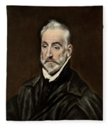 Portrait Of Antonio De Covarrubias Fleece Blanket