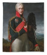 Portrait Of Arkady Alexandrovich Suvorov Fleece Blanket