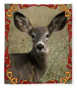Portrait Of Bambi Fleece Blanket