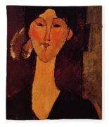 Portrait Of Beatrice Hastings 1915 Fleece Blanket