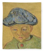 Portrait Of Camille Roulin Fleece Blanket