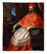 Portrait Of Cardinal Roberto Ubaldini 1625 Fleece Blanket