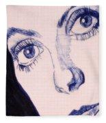 Portrait Of Catherine Close Up Details Fleece Blanket