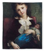 Portrait Of Catherine Du Bouchage Fleece Blanket
