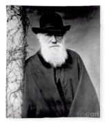 Portrait Of Charles Darwin Fleece Blanket