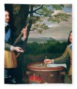 Portrait Of Charles I And Sir Edward Walker Fleece Blanket