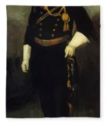 Portrait Of Colonel David Perry 9th U Cavalry 1907 Fleece Blanket