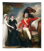 Portrait Of Colonel Fitch And His Sisters Fleece Blanket