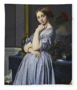 Portrait Of Comtesse D'haussonville Fleece Blanket
