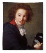 Portrait Of Count Grigory Chernyshev With A Mask In His Hand     Lisabeth Louise Vige Le Brun Fleece Blanket