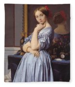 Portrait Of Countess D Haussonville Fleece Blanket